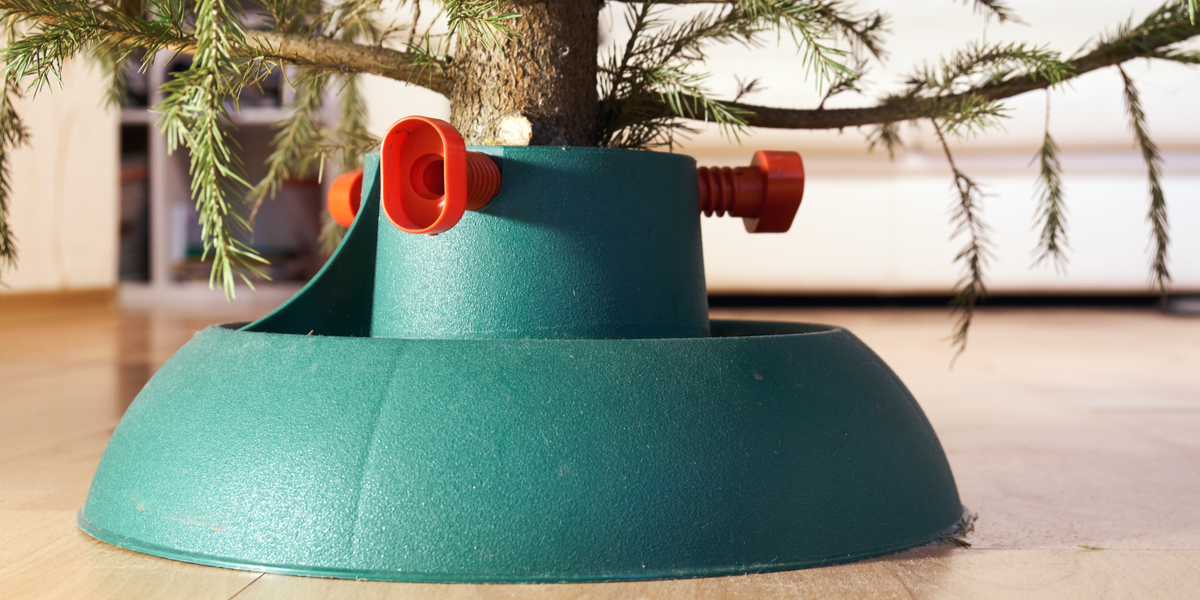 Christmas tree stand - Rushfields