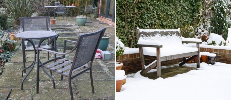 Garden furniture protection over winter - Rushfields