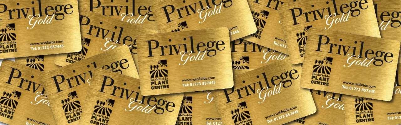 Rushfields privilege gold card