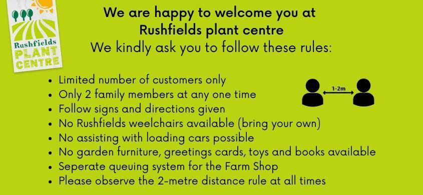 Rushfields rules - Rushfileds plant centre