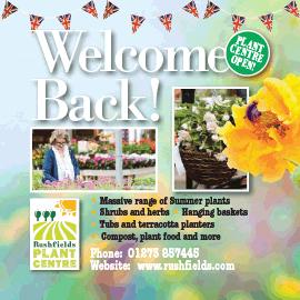 Rushfields Welcome Back summer 2020